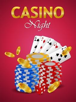 Приглашение в казино бразильское мероприятие с творческой игральной картой