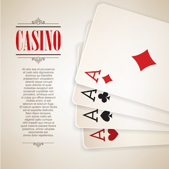 Casino logo poster background