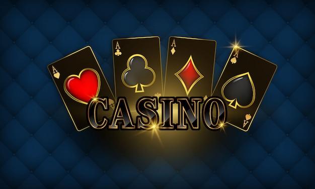 紙吹雪とカジノ高級vip招待状お祝いパーティーギャンブルのバナーの背景。