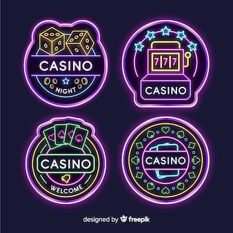 Casino neon sign collectio