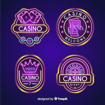 Casino neon sign collectio
