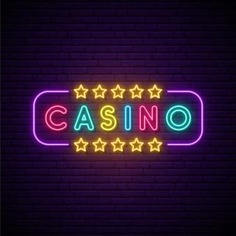 Неоновая вывеска казино