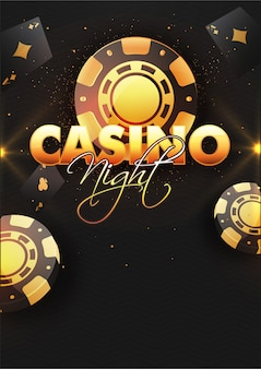 Casino night background with poker chips.