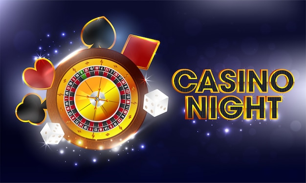 Casino night background.