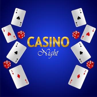 カジノナイト、トランプ付きの豪華なギャンブルゲーム