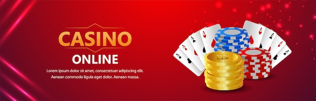 Casino online gambling game with  playing card