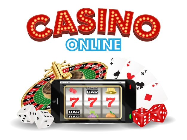 Casino online smartphone with dice card roulette