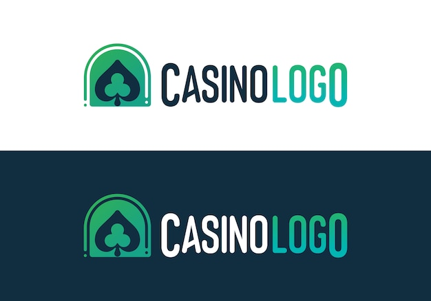 Casino poker gambling logo