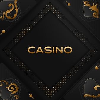 カジノポーカートーナメントの招待デザイン。
