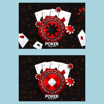 Casino poster or banner or flyer template.