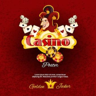 Иллюстрированная иллюстрация казино