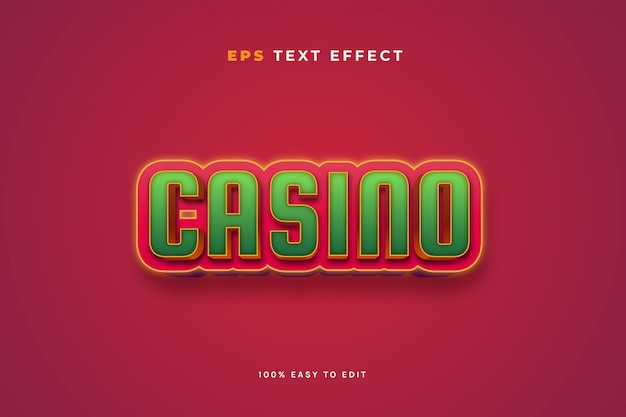 Casino red green text effect
