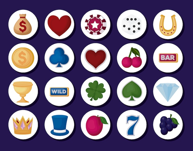 Casino related icons