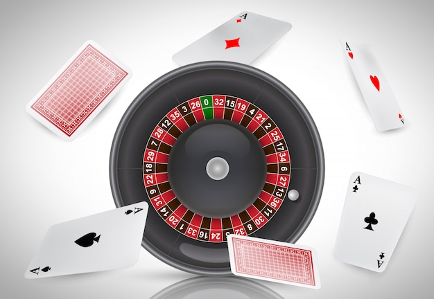 Casino roulette and flying aces. casino business advertising