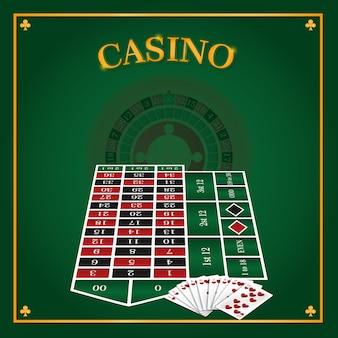 Casino roulette leisure game concept vector illustration graphic design