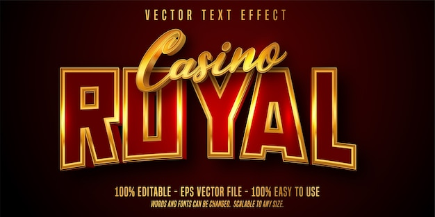 Редактируемый текстовый эффект casino royal