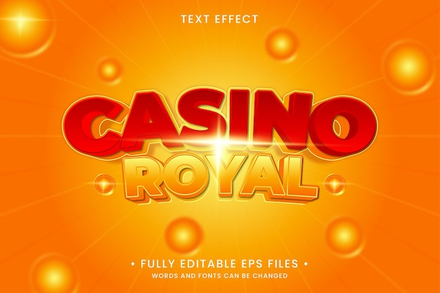 Casino royal text effect
