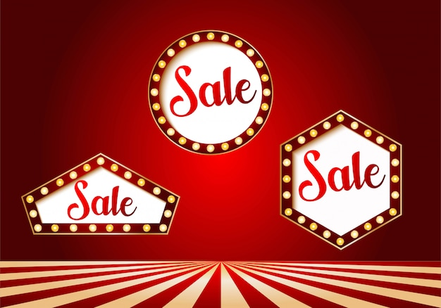 Casino sale banner set design