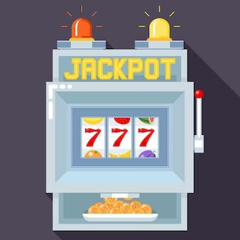 Slot machine del casinò. modello di gioco dell'interfaccia utente.