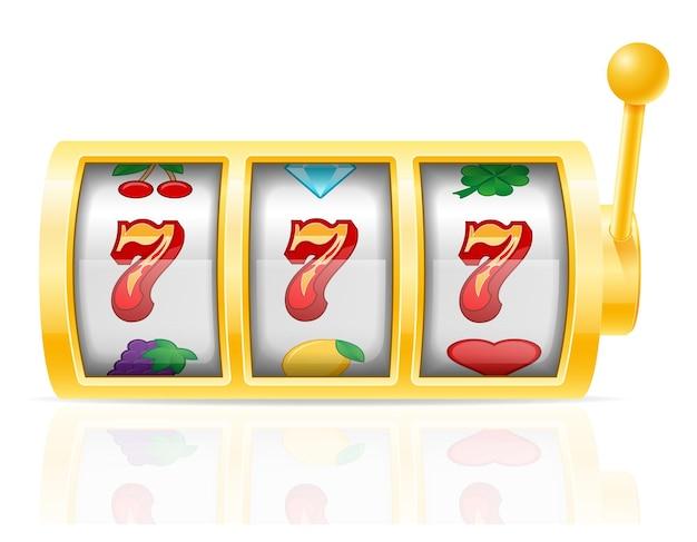 Игровой автомат казино, изолированные на белом фоне