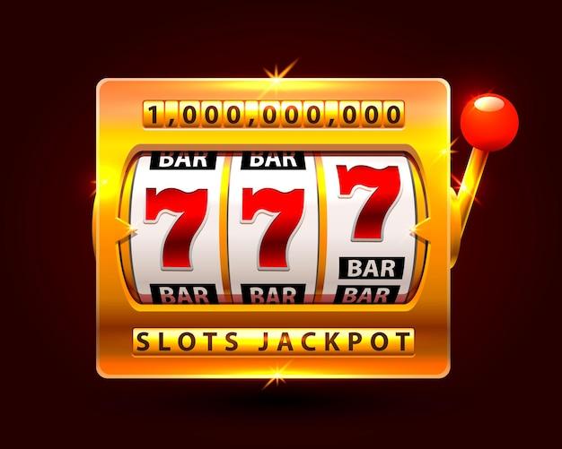 Слоты казино джекпот один миллион. векторная иллюстрация
