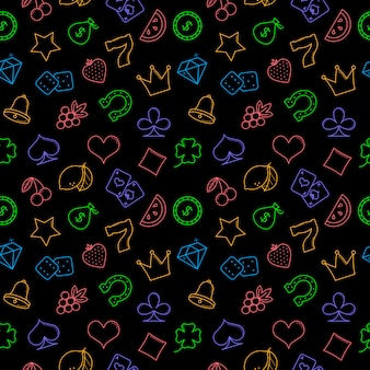 Casino symbols seamless pattern