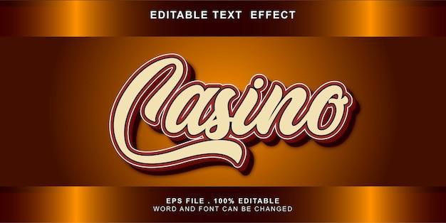 Casino text effect editable