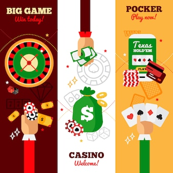 Casino vertical banners design