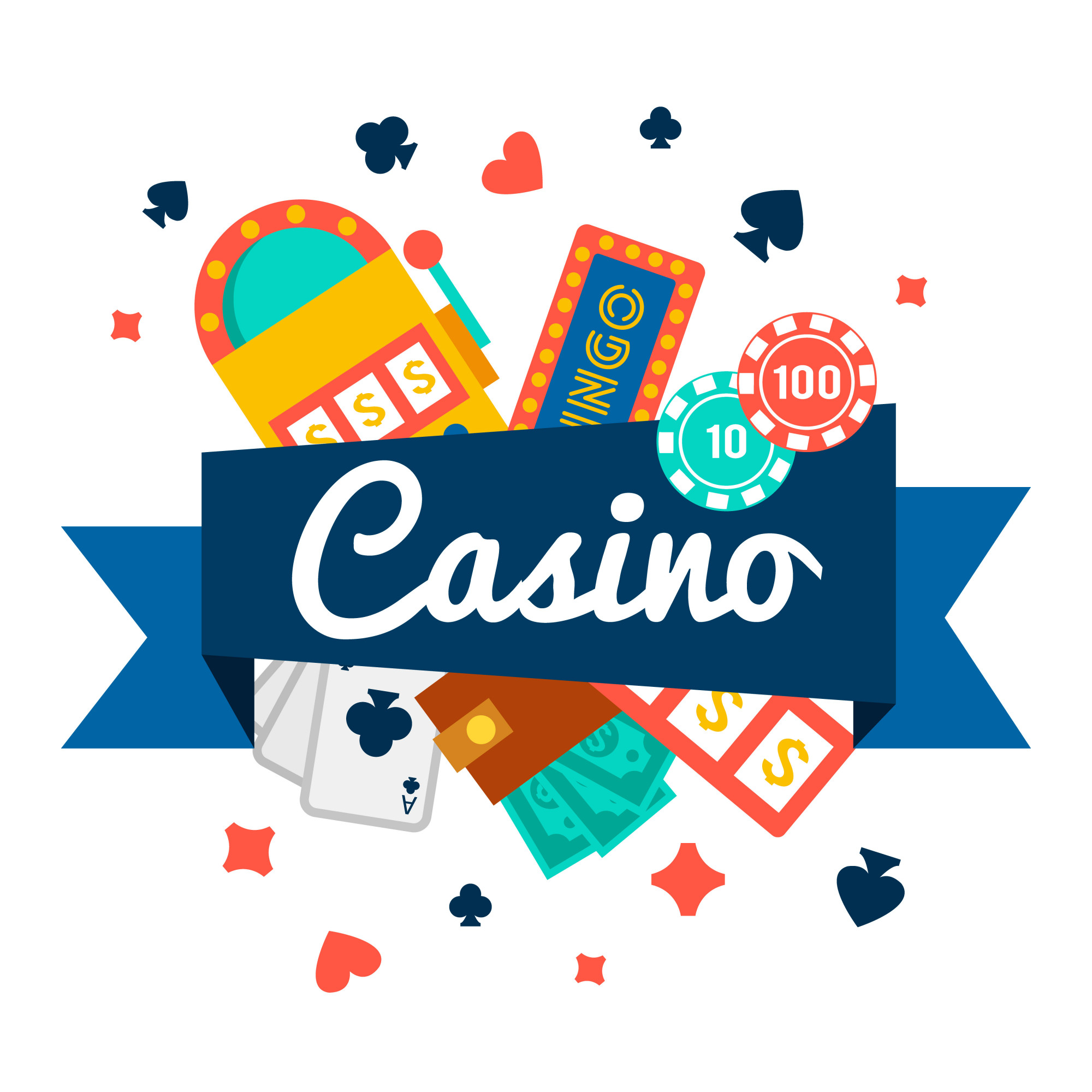 Casino wallpaper with poker elements