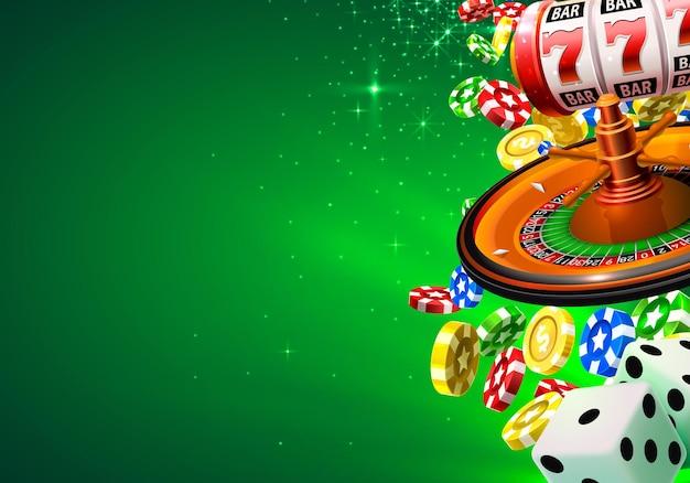 Casino winner banner signboard on background. vector illustration