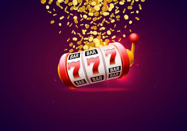 Вывеска баннера победителя казино на фоне. векторная иллюстрация