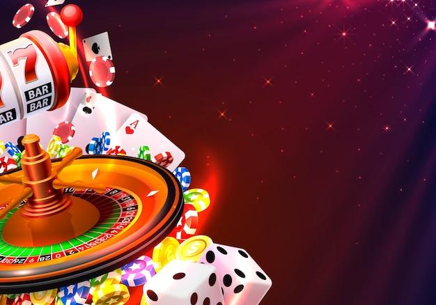 Вывеска баннера победителя казино на фоне