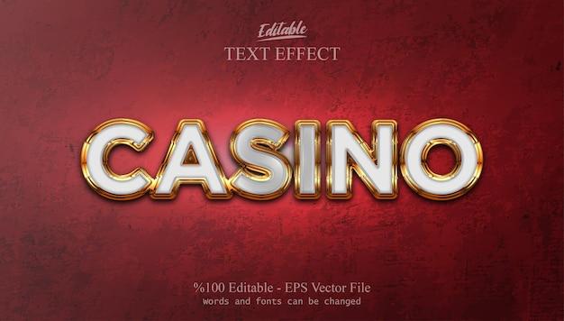 Casino編集可能なテキスト効果