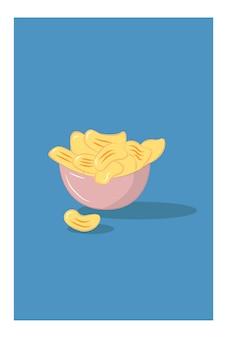 그릇 용기에 카사바 칩