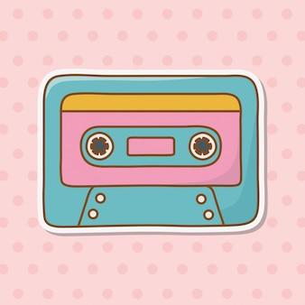 Cassette icon cartoon