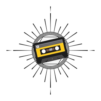 Cassette icon. Music and Sound design. Vector graphic