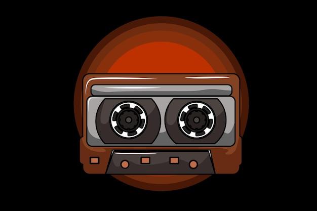 Cassette illustration design