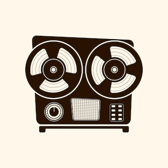 Cassette player retro style .vector icon.on light background.