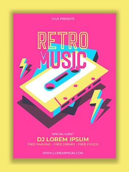 Cassette tape. vector illustration, logo. retro party.