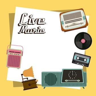 Cassette vinyl radio gramaphone icon