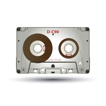 80年代のリバイバルミックステープ、パーティーポスターのヴィンテージオブジェクトとしてのレトロラベル付きカセット