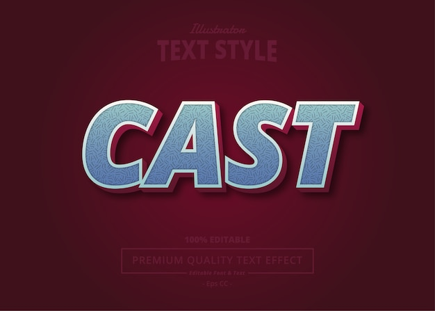 Cast  text effect