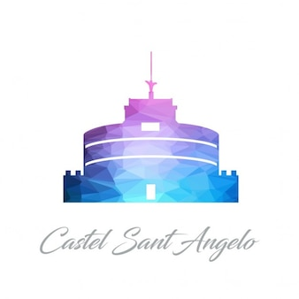Castel sant angelo, polygonal