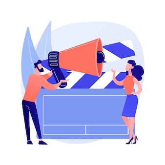Casting call abstract concept vector illustration. open call for models, commercial shootings, photo and video casting, modelling agency request, audition for brand advertising abstract metaphor.