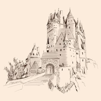 Замок и пейзаж.