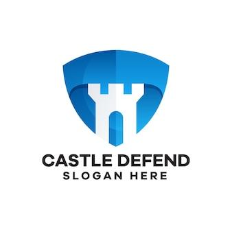 Castledefendグラデーションロゴデザイン