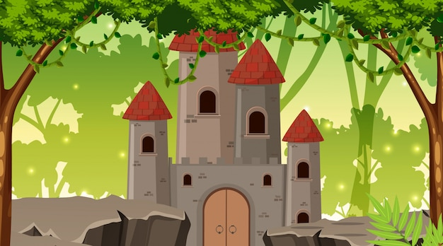 A castle in forest