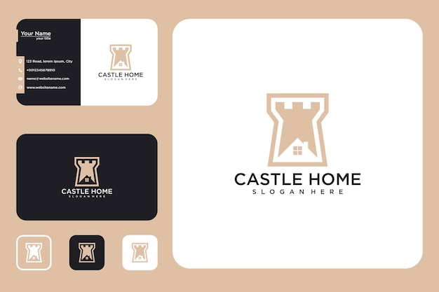 Castle house logo design and business card