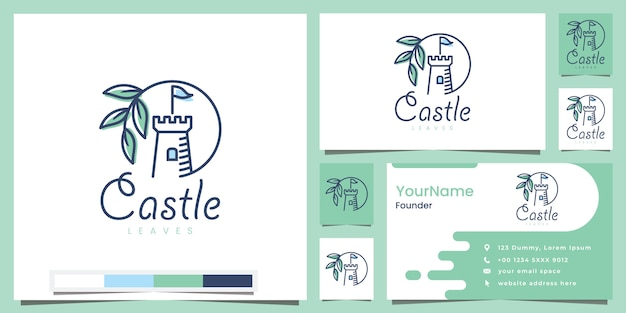 Castle leaves logo design inspiration