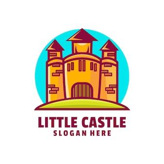 城のロゴデザインベクトル